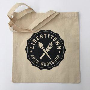 Natural Cotton Logo Tote Bag