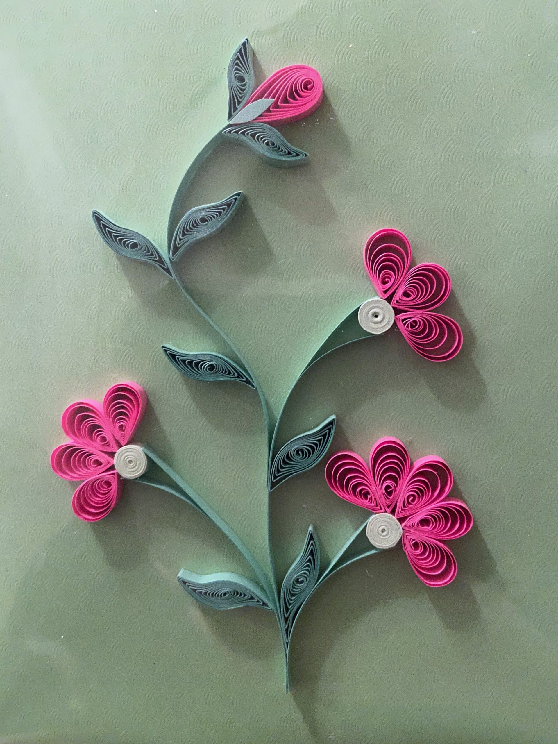 Spring Flowers Card, Quilling Workshop!
