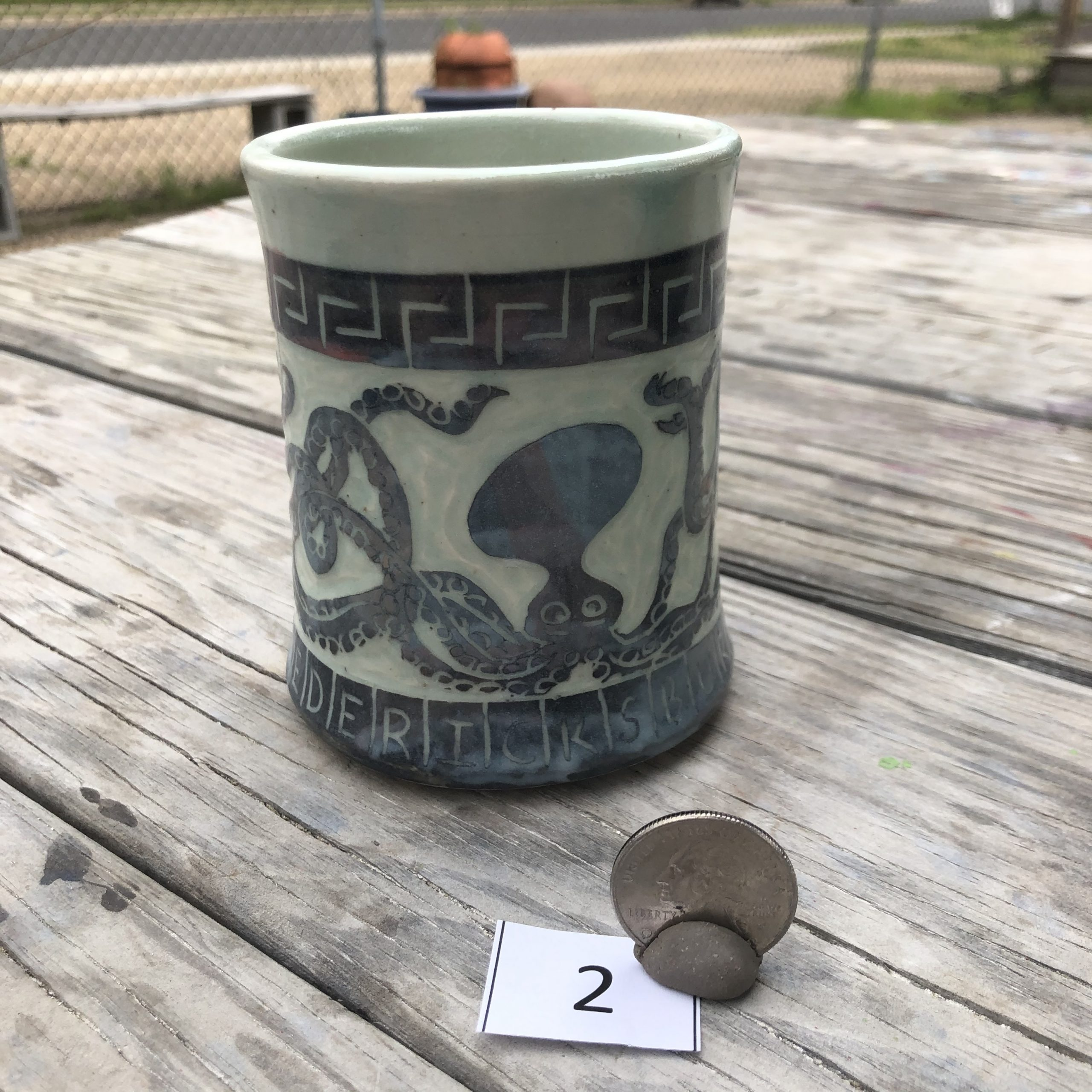 Neal Reed Octopus w/ Border Mug #2