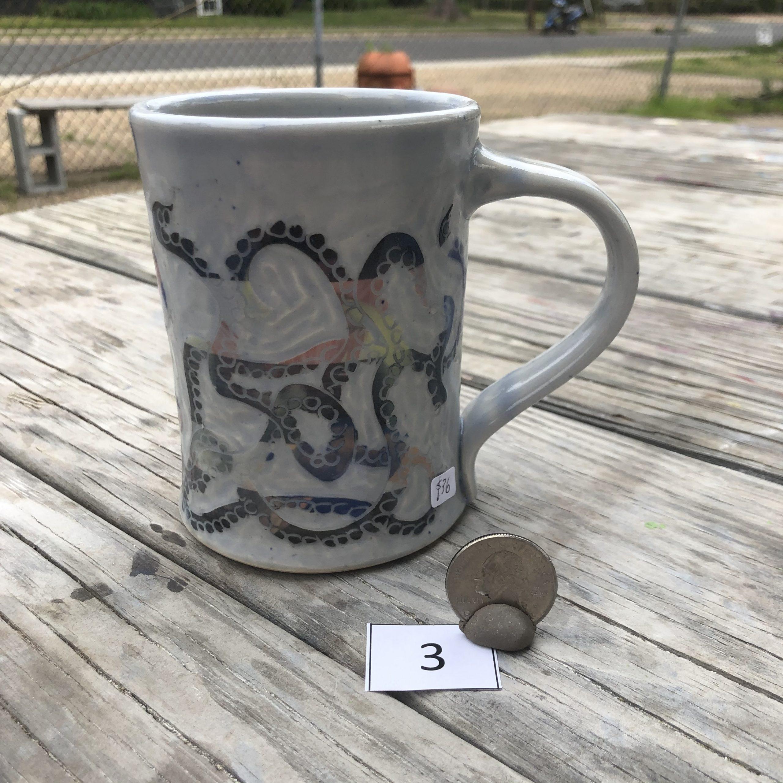 Neal Reed Octopus w/ Border Mug #3