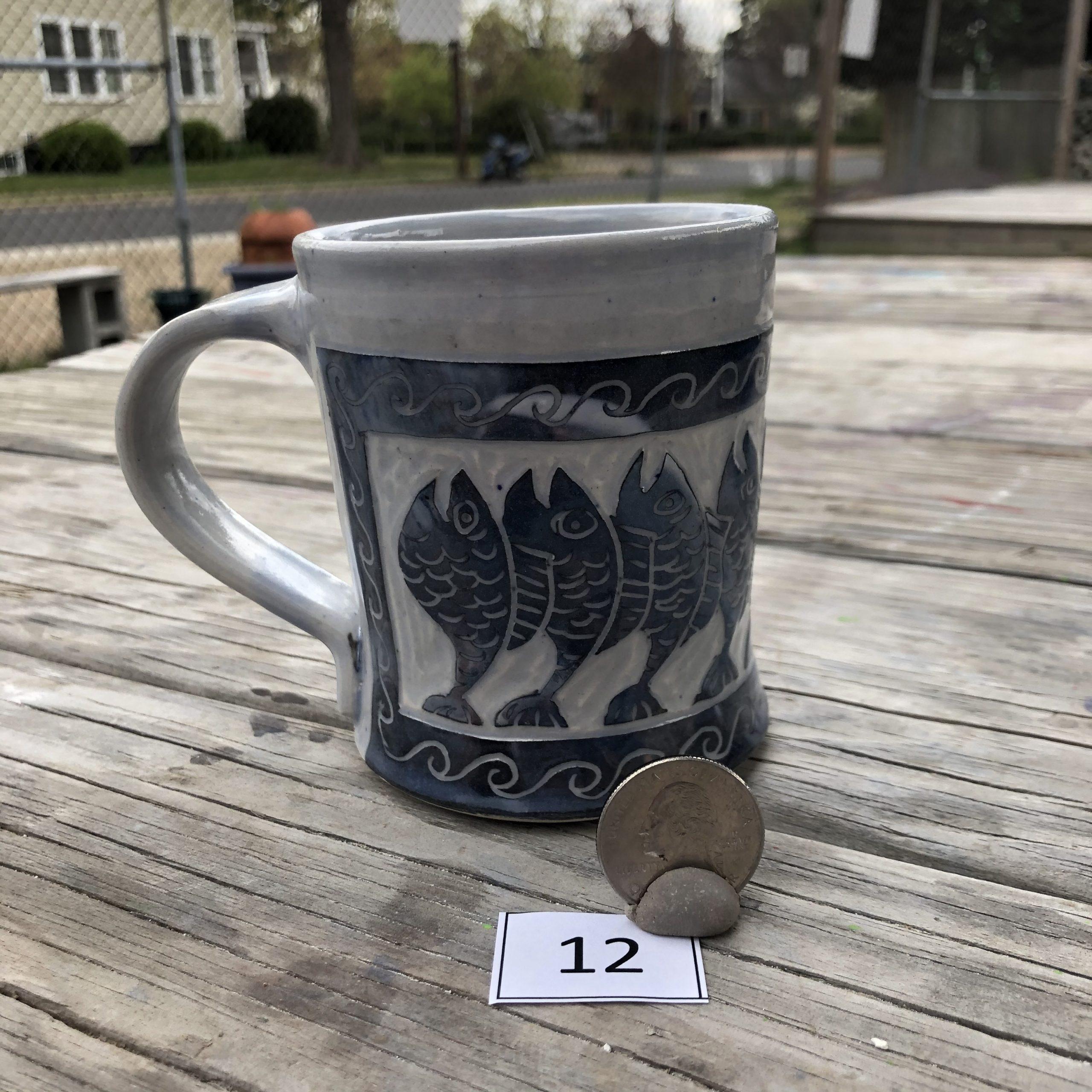 Neal Reed Stacked Fish w/ Border Mug #12