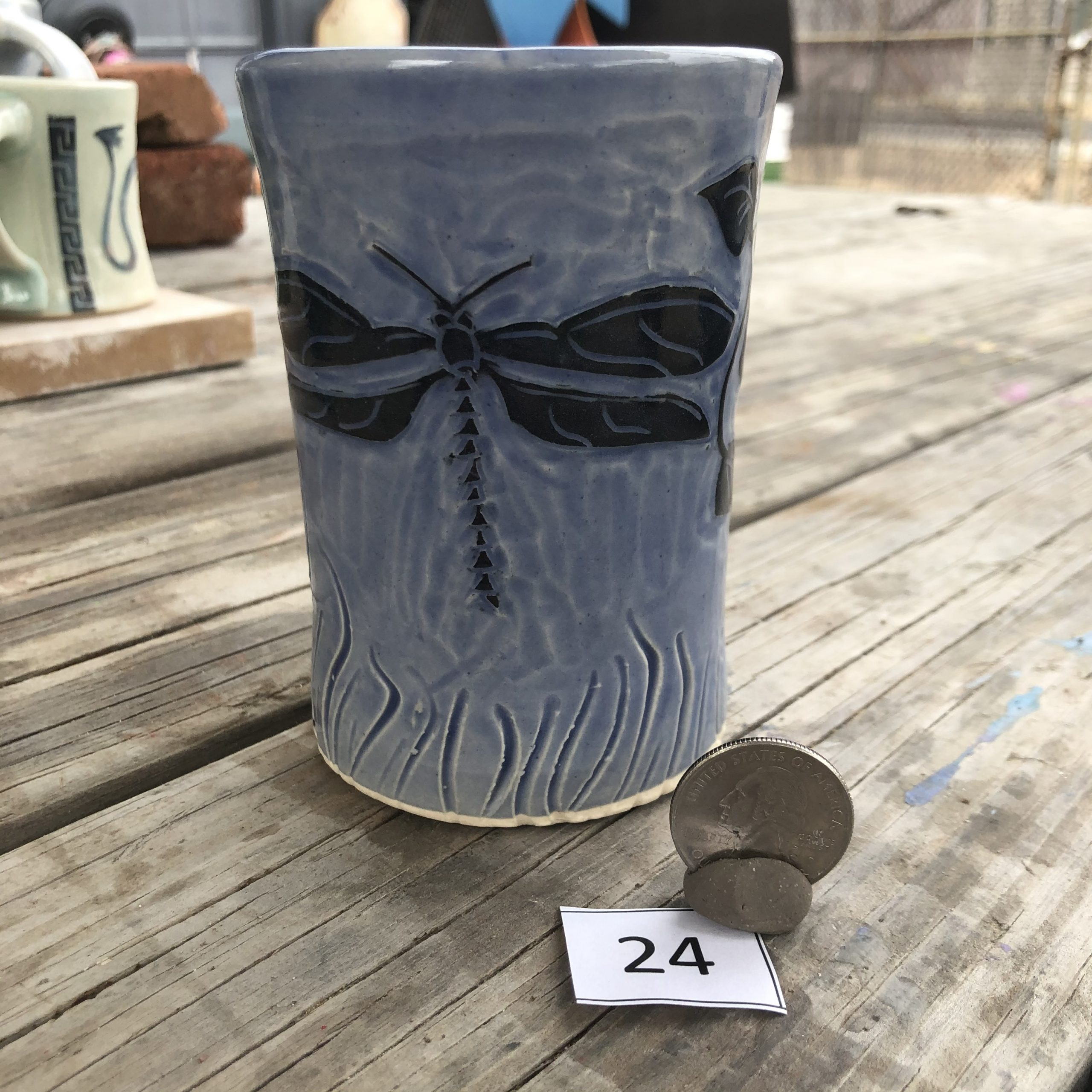 Neal Reed Dragonfly w/ Texture Mug #24