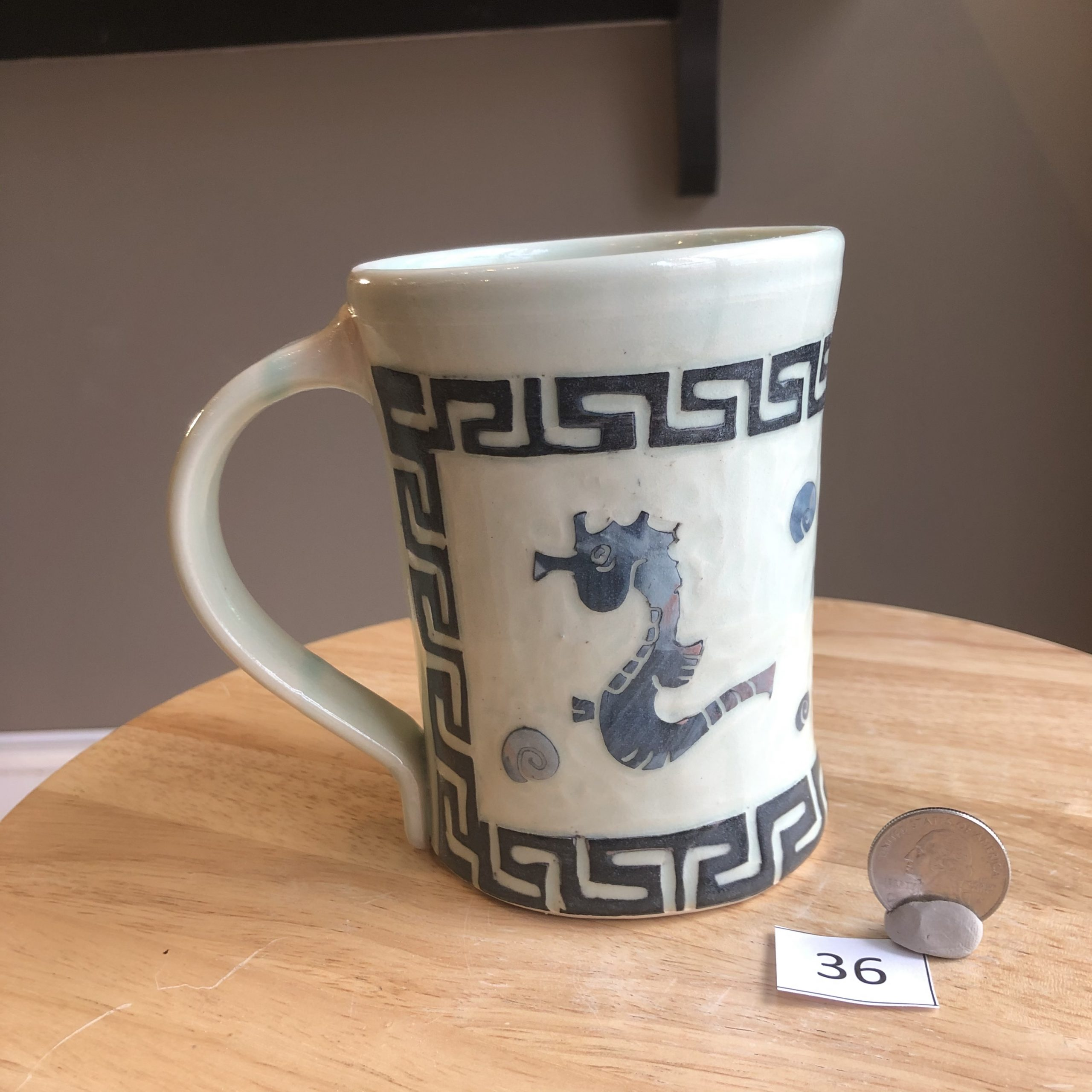 Neal Reed Seahorse w/ Border Mug #36