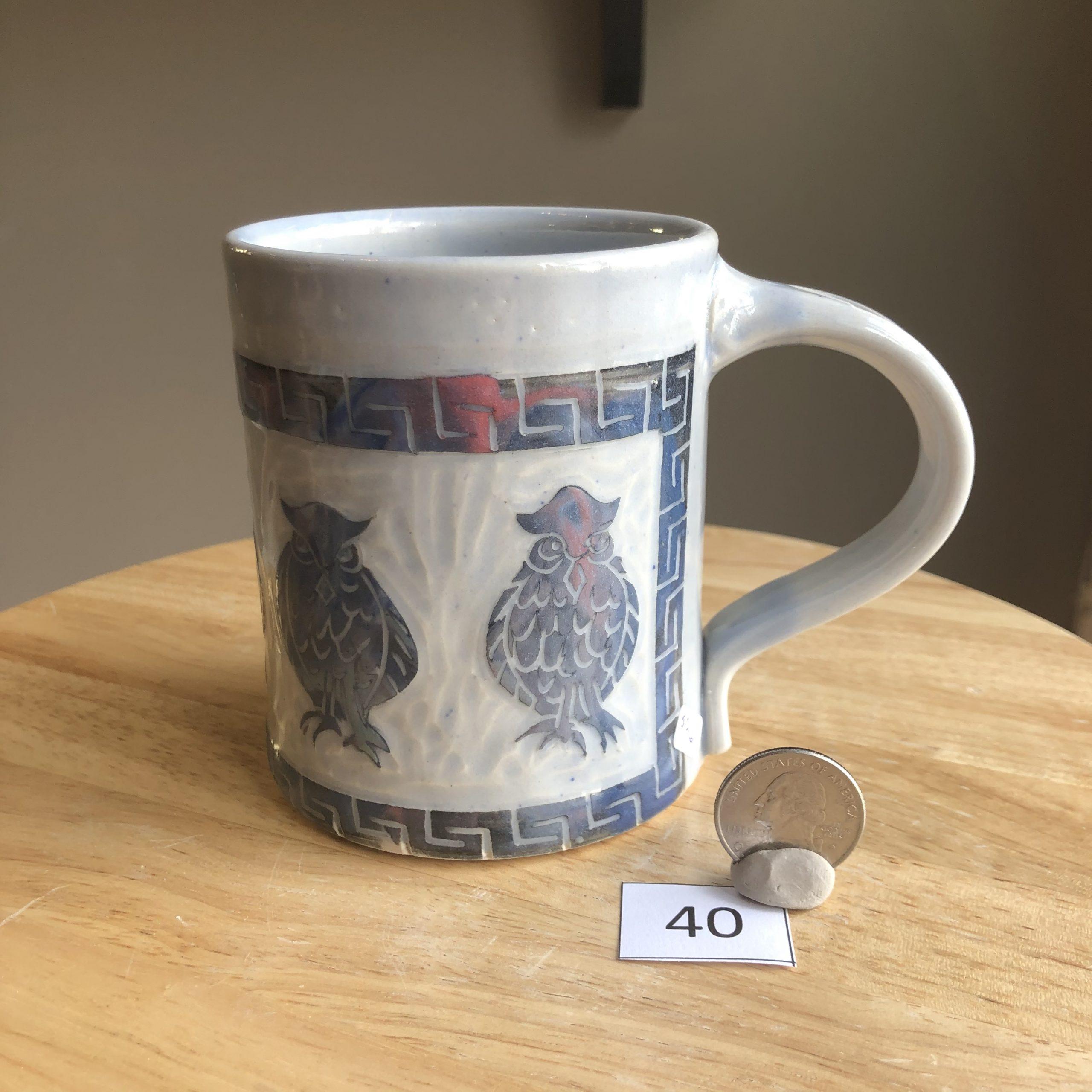 Neal Reed Owl w/ Border Mug #40