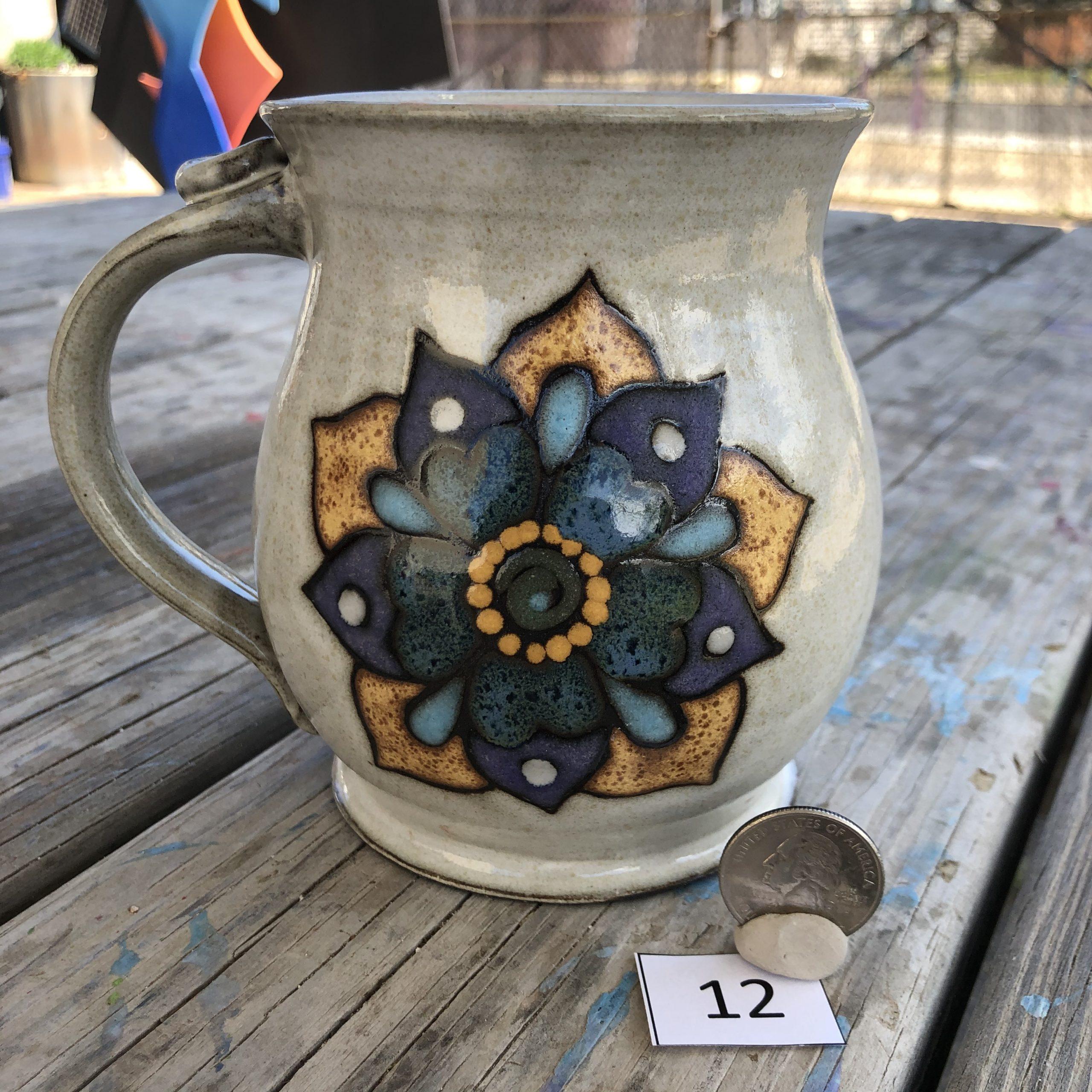 Ann Pfau Two Flower Mug #12