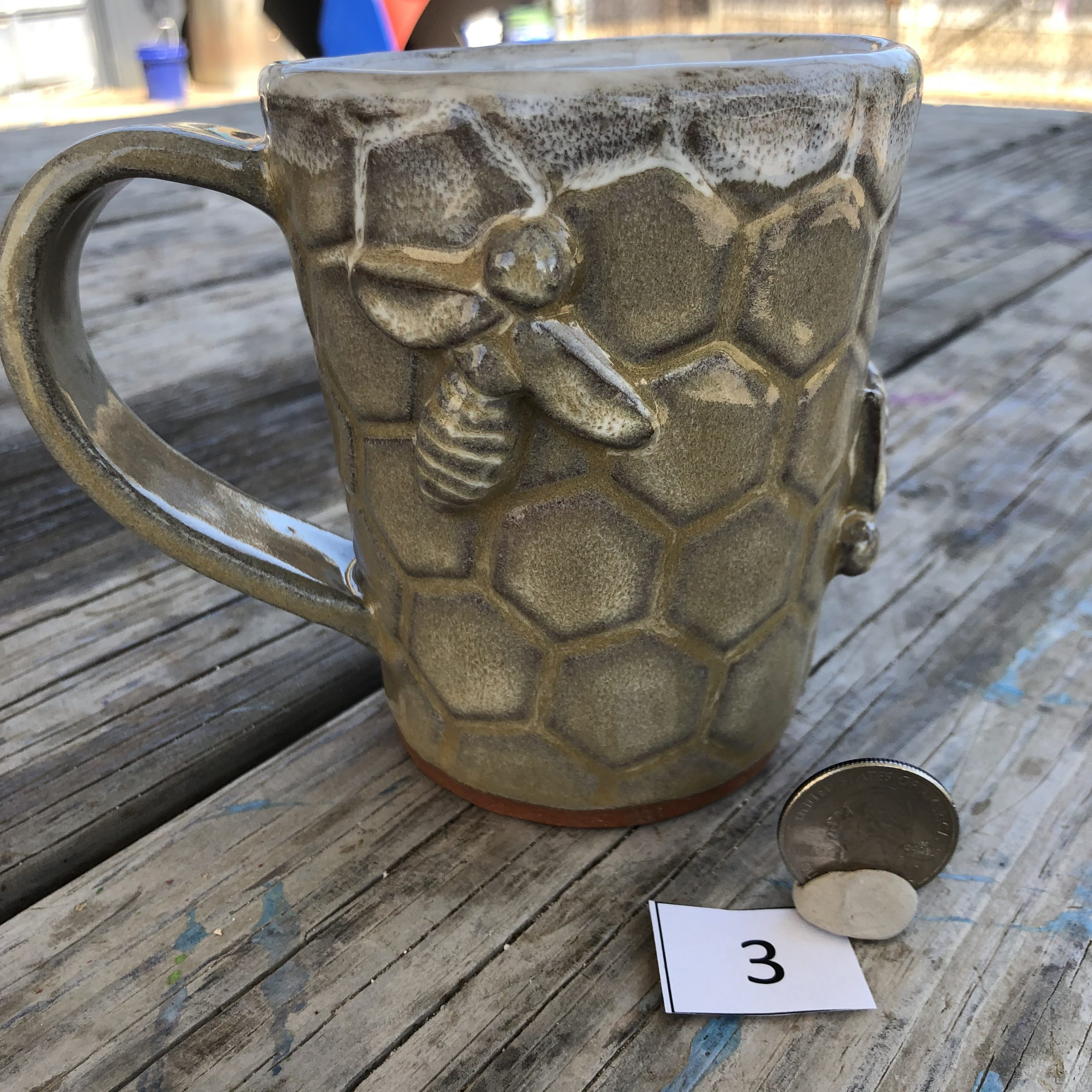 Vicki Wilson Bee Honeycomb Mug #3