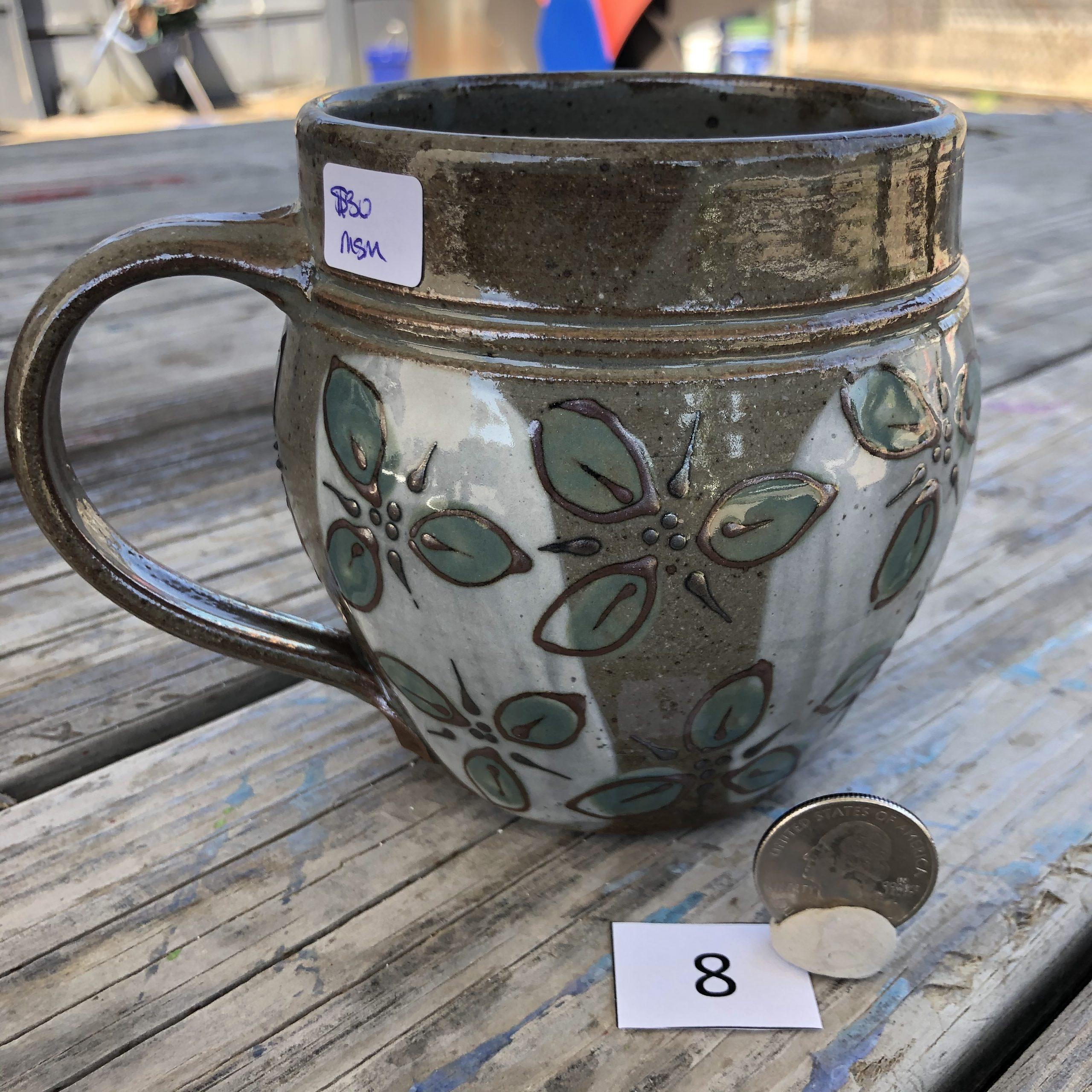 Misha Sanborn Leaf Design Mug #8