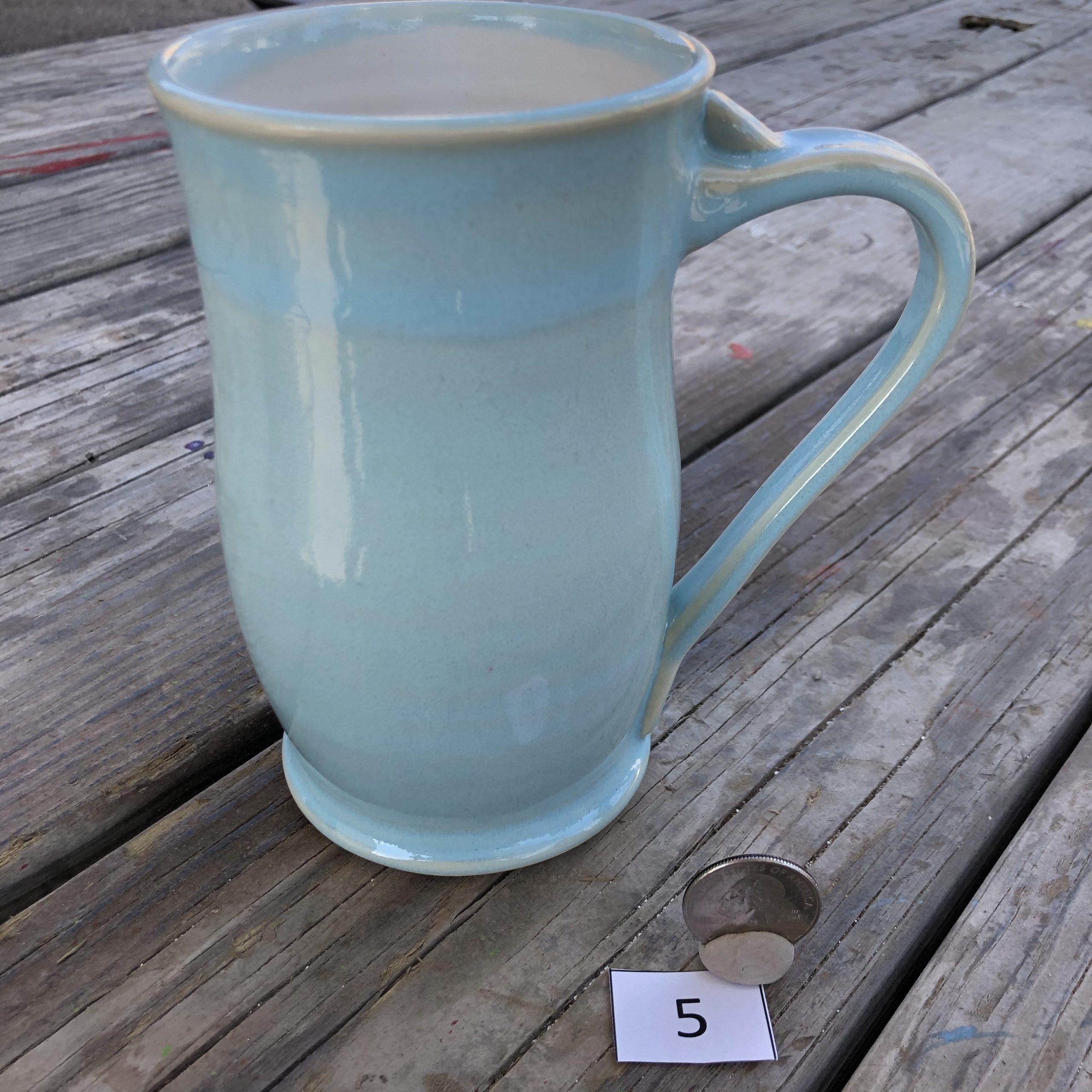 Amy Kovats Aqua and White Mug #5