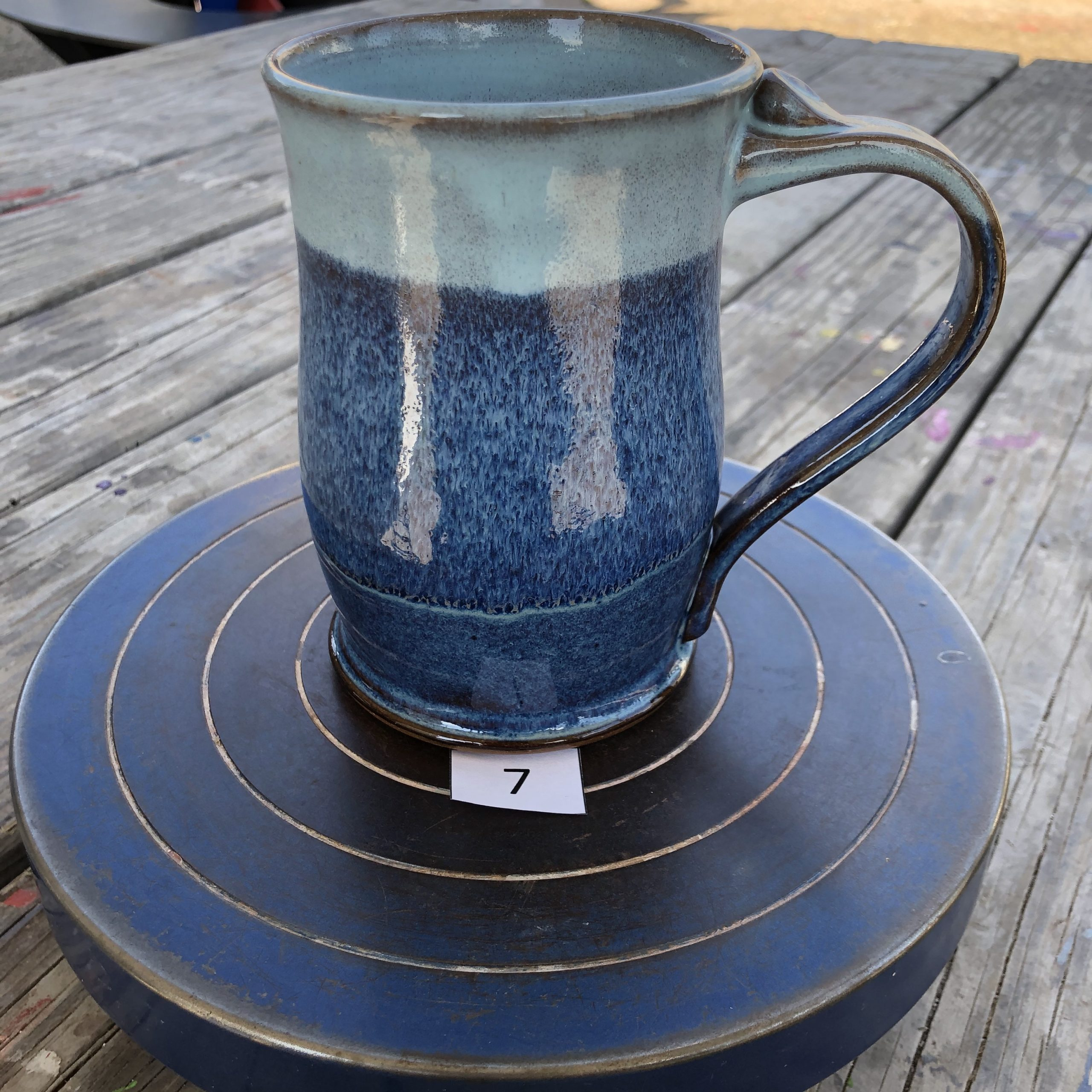 Amy Kovats Shades of Blue Mug #7