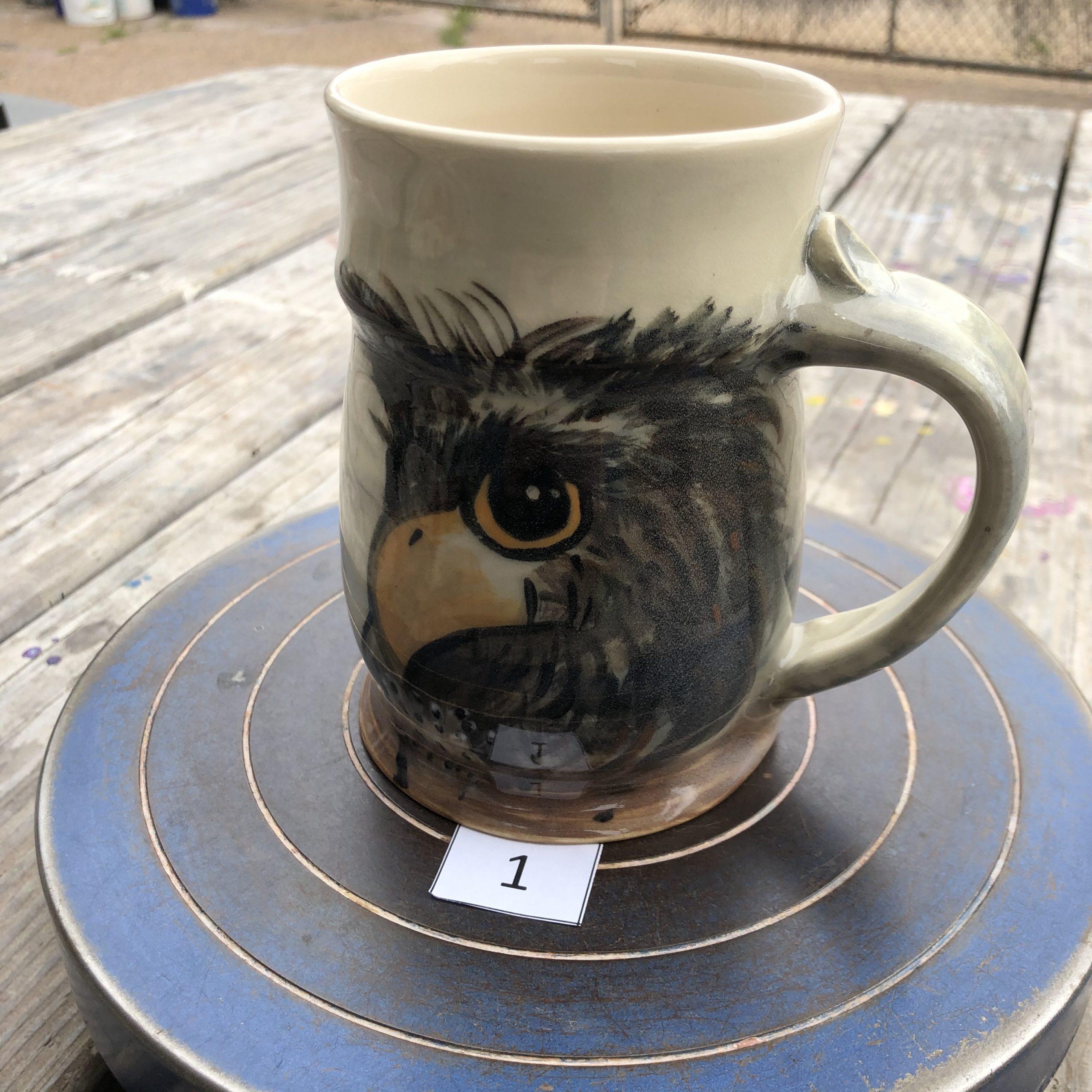 Betsy Curtiss Eagle Mug #1