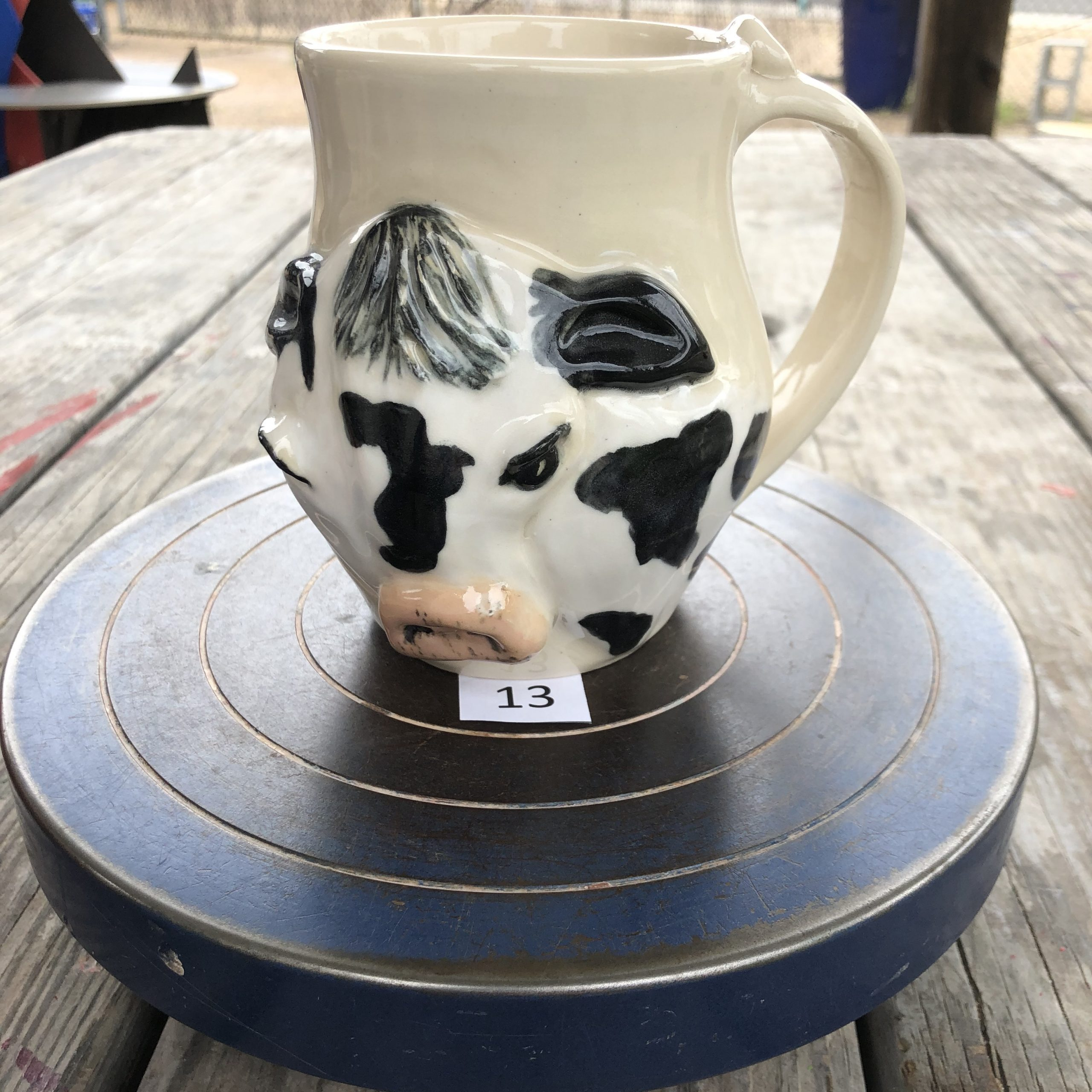 Betsy Curtiss Cow Mug #13