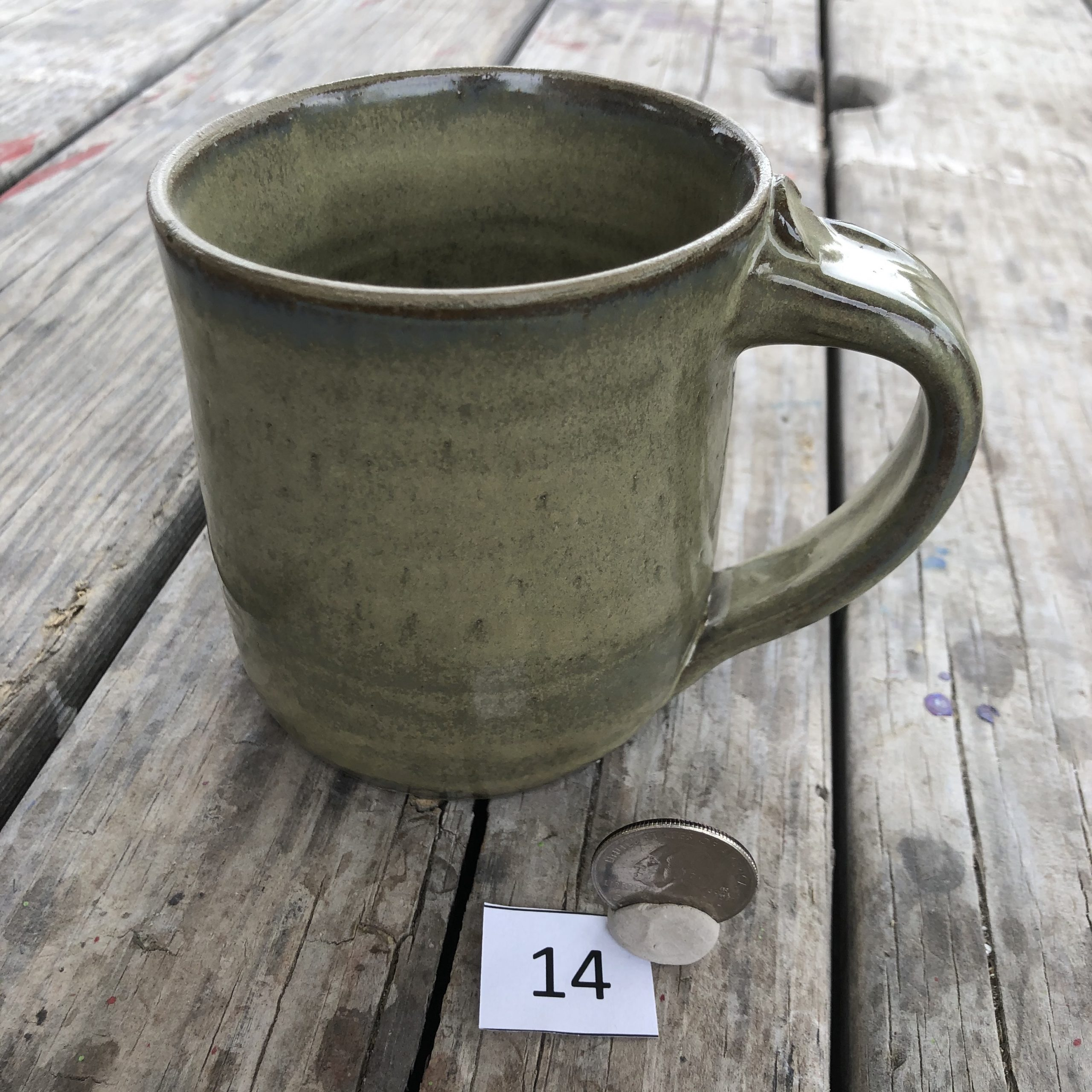 Betsy Curtiss Grey/Green Mug #14