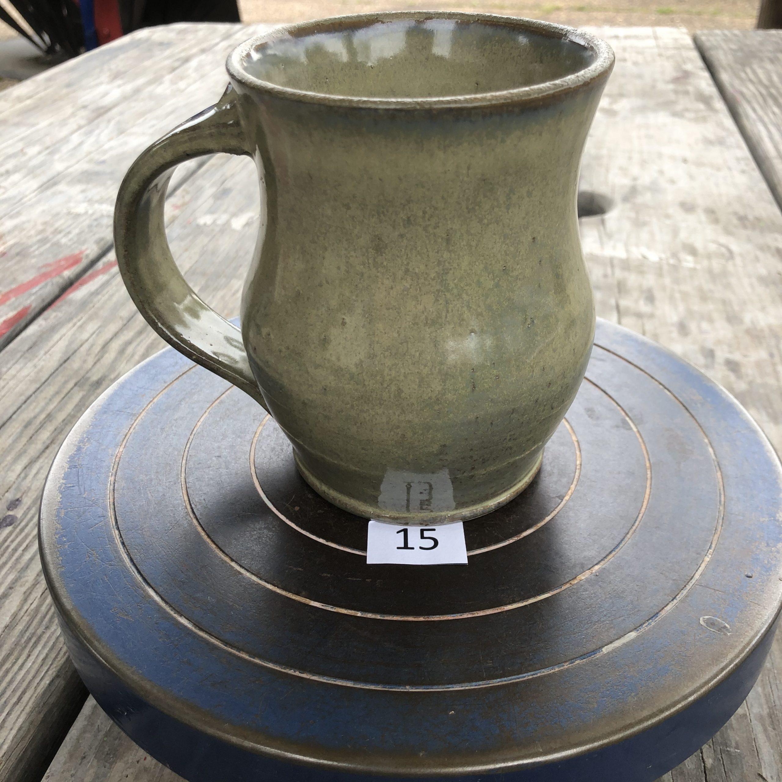 Betsy Curtiss Grey/Green Mug #15