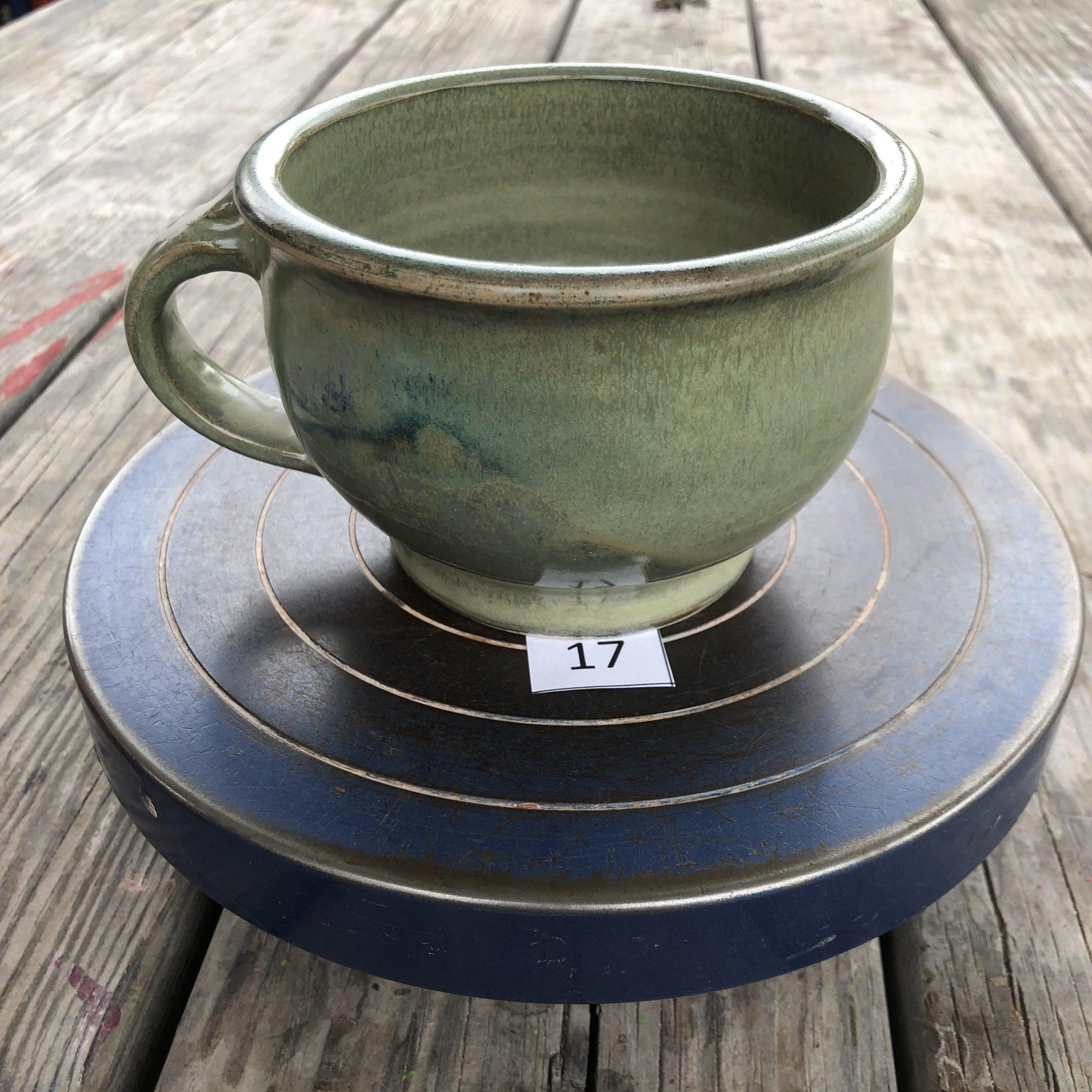 Betsy Curtiss Grey/Green Mug #17