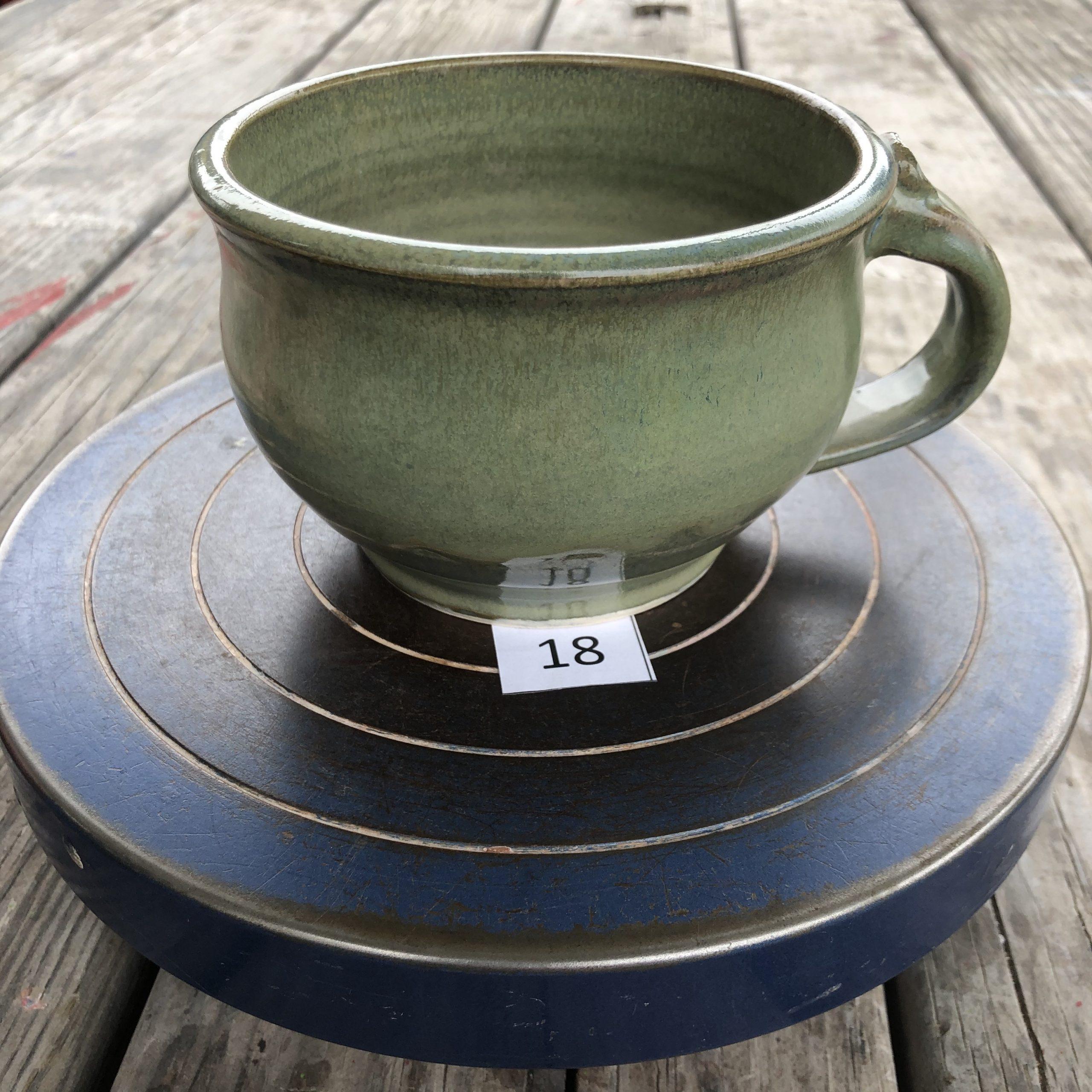 Betsy Curtiss Grey/Green Mug #18