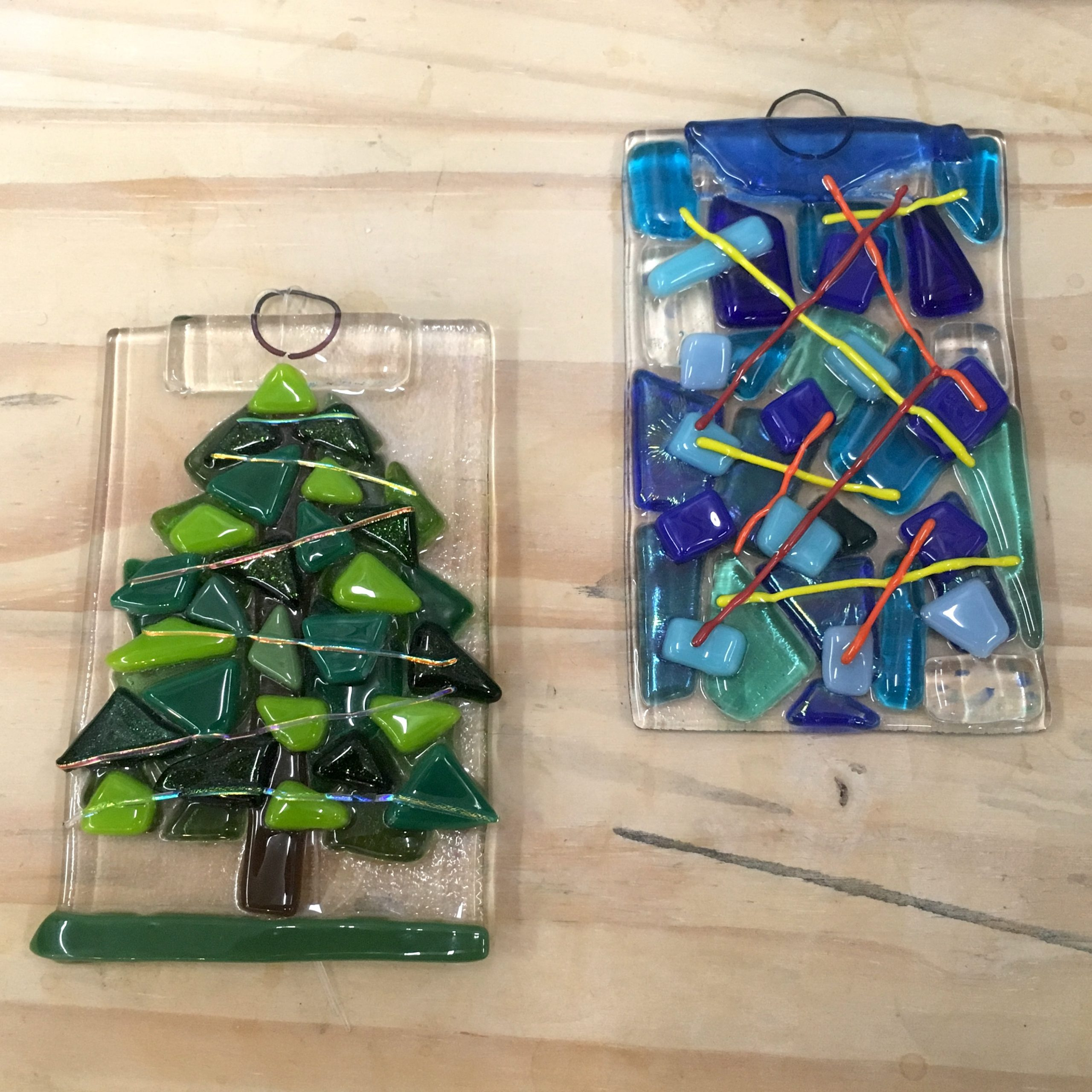 Holiday Ornament Glass Class for Kids and Adults!